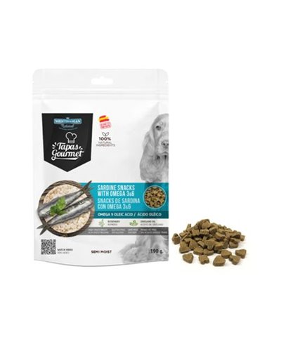 Mediterranean snacks de sardina con omega3&6