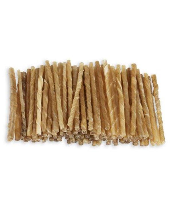 "Raw hide twisted sticks 5""7-8 mm"
