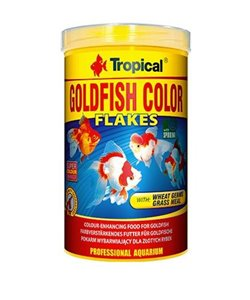 Goldfish color flakes tropical