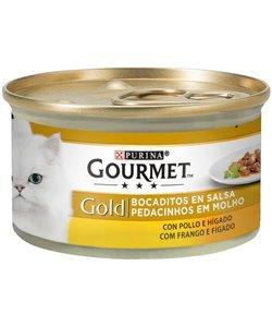 GOURMET GOLD POLLO E HÍGADO 85 GR