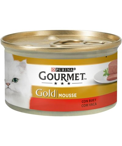 GOURMET GOLD MOUSSE CON BUEY 85 GR