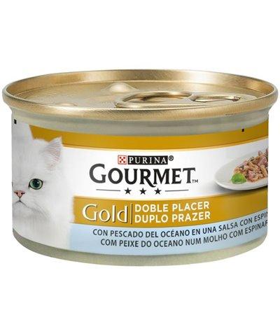 GOURMET GOLD DOBLE PLACER CON PESCADO DEL OCÉANO 85 GR
